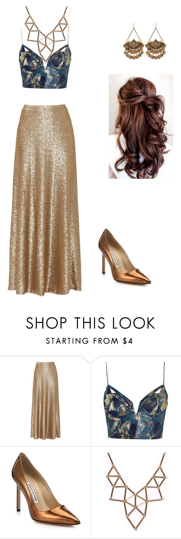 """""""Lady Kenna Reign"""" by keeghanl ❤ liked on Polyvore featuring Slate & Willow, Zimmermann, Manolo Blahnik and Chicnova Fashion"""