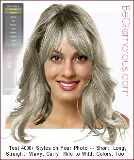 Try On Hairstyles 16 Best Glamgray Images On Pinterest  Grey Hair Going Gray And