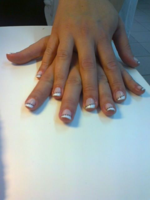 A beautiful but different French manicure!