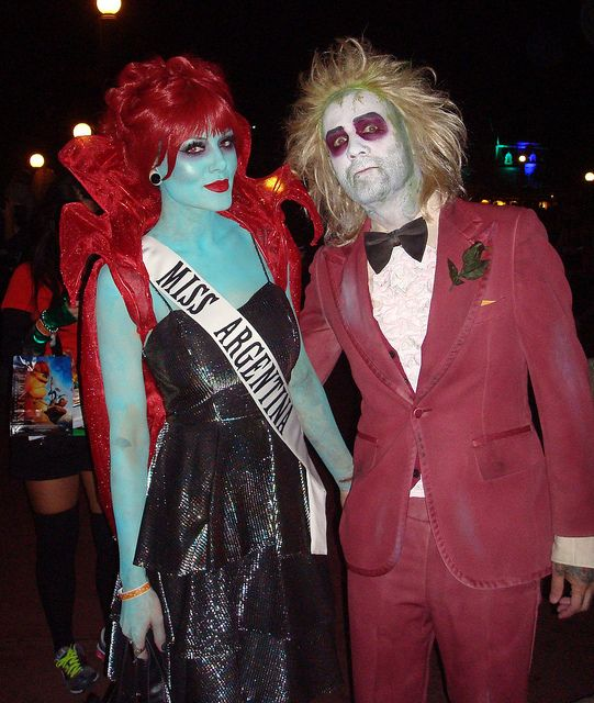 Halloween couple costume - Beetlejuice & Miss Argentina OMG @Erin Redfern Our favorite movie! and I always wanted to dress up as her!