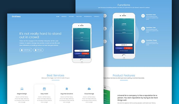 Manjhi Mobile Landing Page Template in Bootstrap