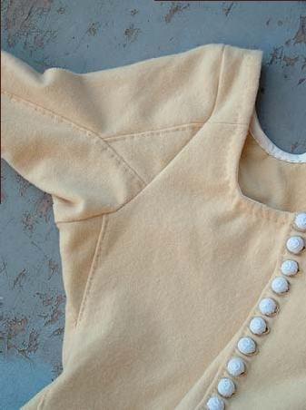 sleeve detail, Moy bog dress reproduction