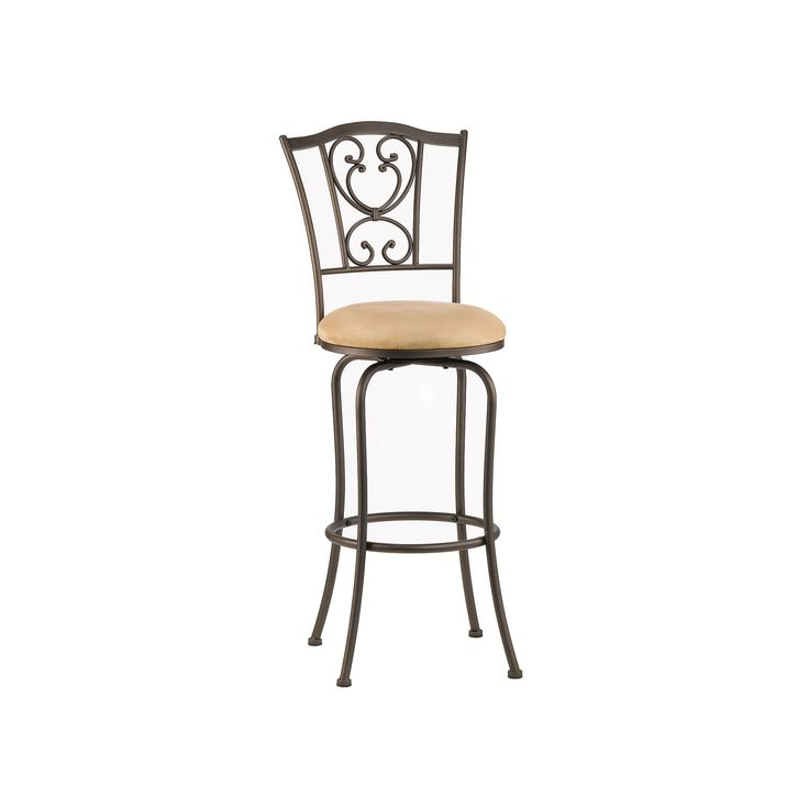 Concord Swivel Counter Stool, Brown