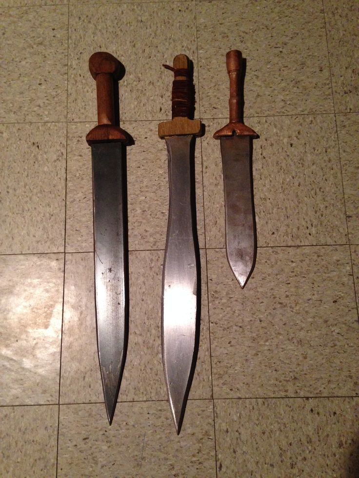 Homemade Swords From Right To Left Roman Gladius