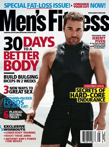 Jeremy Piven - Men's Fitness Magazine [United States] (August 2009)