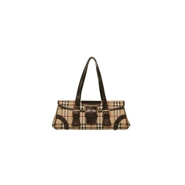 Burberry Haymarket Check Satchel (1.355 ARS) ❤ liked on Polyvore featuring bags, handbags, burberry, burberry purses, chocolate handbags, man bag, chocolate brown handbag and man satchel bag
