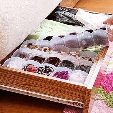 japonés caja multifuncional 5-compartimiento de almacenamiento de apilar ropa interior calcetines y accesorios k1684 – USD $ 11.29