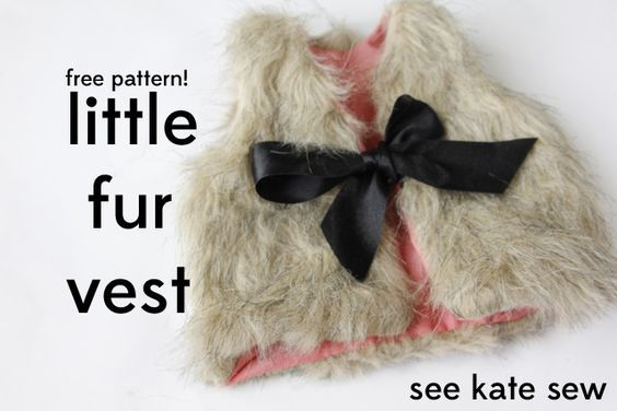 I think Callee needs one of these. What do you think @Sarah Chintomby Laws   baby faux fur vest pattern + tutorial - see kate sew