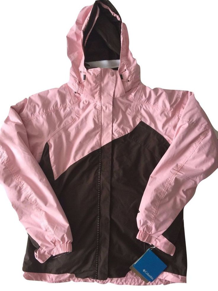 Columbia Womens Pink Brown Interchangable 3 in 1 Winte Snow Coat Medium M NWT  | eBay