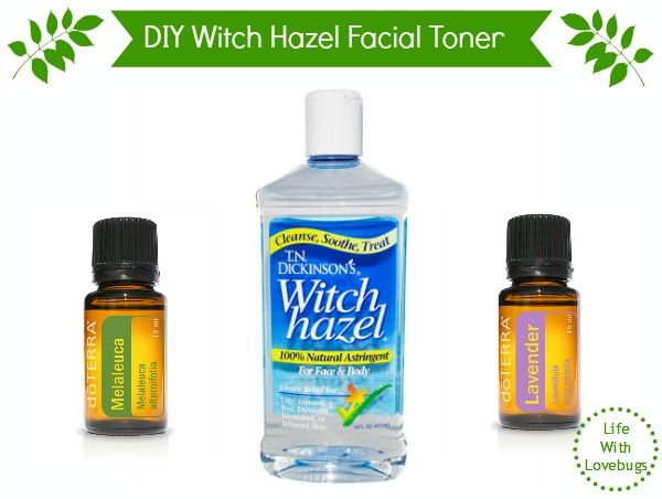 Despite it's unfriendly name, Witch Hazel can be very beneficial to your skin. When mixed with the right ingredients it makes a very effective facial toner.