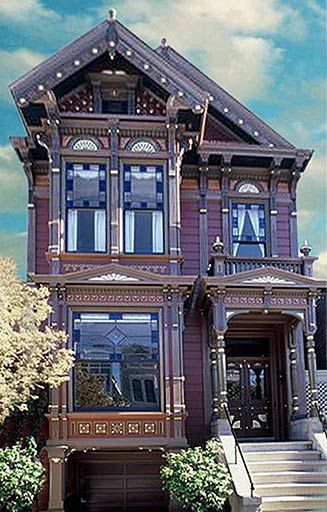 A house on Hill Street in San Francisco, painted with 17 colors.