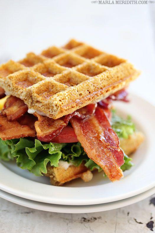 BLT Waffle Sandwich | FamilyFreshCooking.com