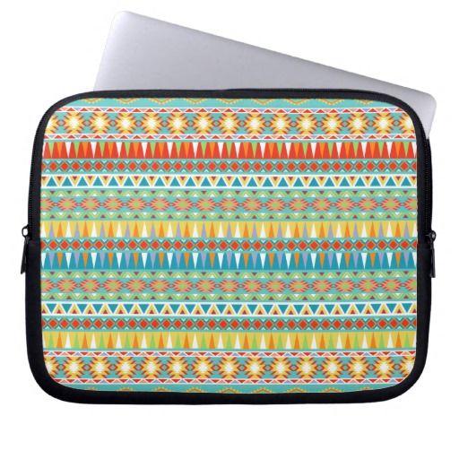 Modern Aztec Pattern Computer Sleeve