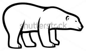 Výsledek obrázku pro lední medvěd šablona