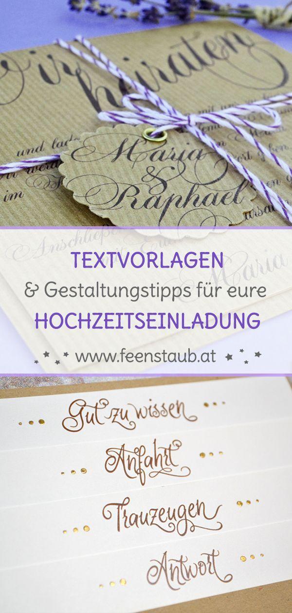Hochzeitseinladungen Texte Textvorlagen Textbausteine