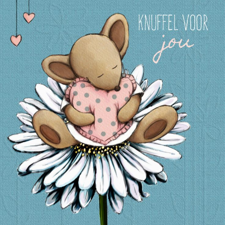 Ken je iemand die een knuffel verdient? Stuur dan deze lieve kaart....