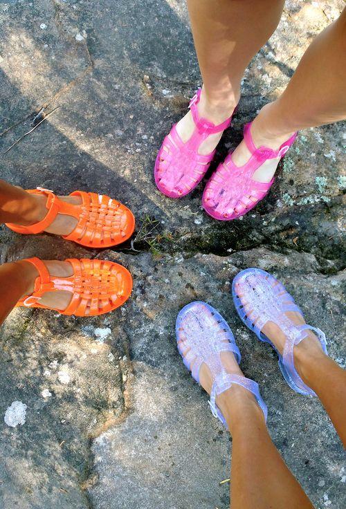 jelly sandals | Tumblr