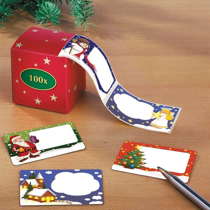 Kerstlabels  Description: Ook al legt u geen cadeautjes onder de boom met kerst zijn er altijd speciale mensen die u iets wilt geven. Een kleinigheid is vaak al leuk vooral als het cadeautje met zorg is ingepakt. Dat is nu heel eenvoudig want u kunt met deze rol maar liefst 100 cadeautjes voorzien van een vrolijke kerststicker. (Zelfs een envelop met geld krijgt hierdoor een kerstuitstraling!).  Price: 7.99  Meer informatie