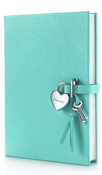 Tiffany aqua heart-lock diary- I want this so much, but they don't sell it anymore.