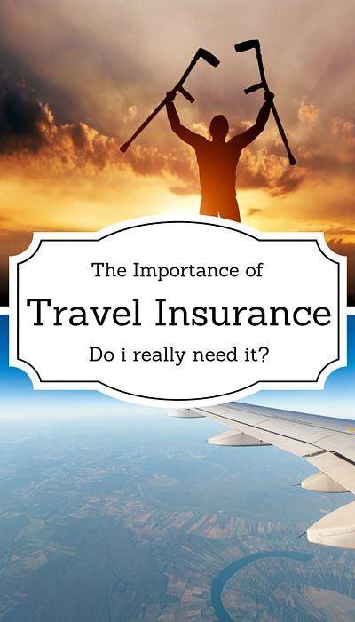 The importance of travel insurance while travelling abroad.