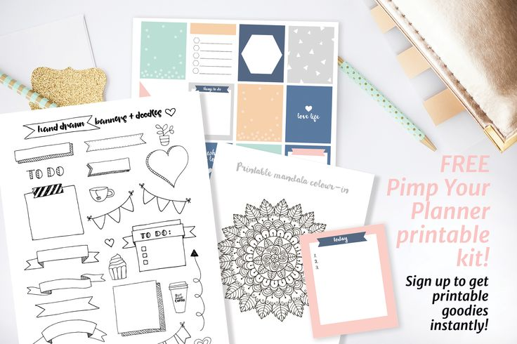 Tips for Bullet Journaling, and living a happy organised life. Huge collection of free printables for planner decorating, gift wrapping and craft.