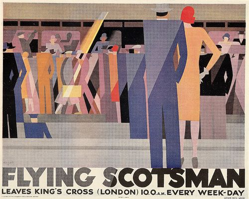 """Flying Scotsman"" poster by Leo Marfurt for the London & North Eastern Railway, 1928"