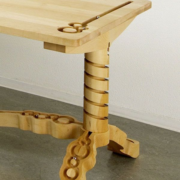 Marbelous Table Is Artistic Furniture Was Made Out Of Solid Maple Wood  Integrated Marble Track Designed