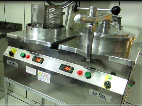 (1) freidora a presión de pollo industrial. receta de pollo frito - www.novaind.com.br - YouTube