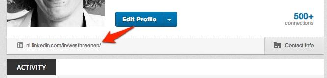 Publiek profiel tonen in LinkedIn. Door op de link te klikken onder je profielfoto in LinkedIn, krijg je je publieke profiel te zien.
