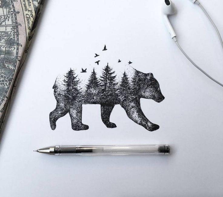 Poetic Surreal Black Ink Pen Illustrations – Fubiz Media More