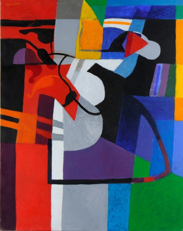 Massacres et Joie de vivre : Dia AL-AZZAWI à la Galerie Claude Lemand Oriental Taqasim, 2012. Acrylique sur toile, 154 x 122 cm. © Dia Al-Azzawi. Courtesy Galerie Claude Lemand, Paris.