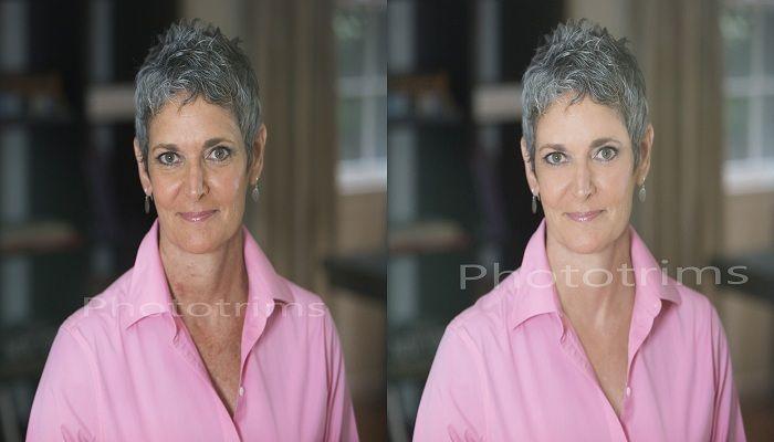 Headshot photo retouching service