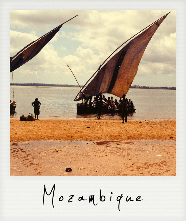 """Mozambique """"dhows"""" (local sailing boats)"""