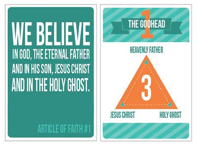 Little LDS Ideas: {LDS Printables} Articles of Faith Flashcards: a FREE Printable from 'All Things Bright & Beautiful'