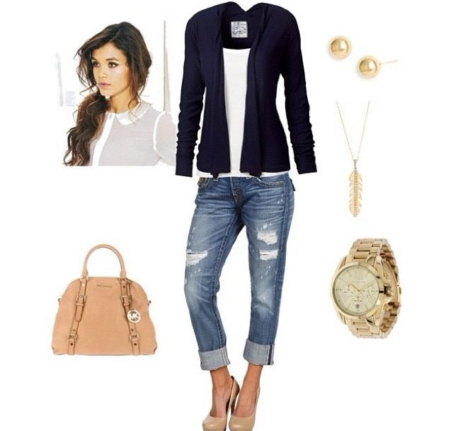 Casual Outfit without the giant purse and gold watch
