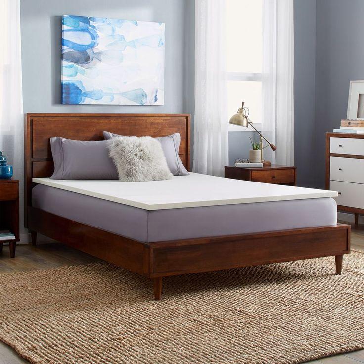 Queen Mattress Topper Memory Foam Bedding Medium Support Firm Sleeping 1-inch #SlumberSolutions