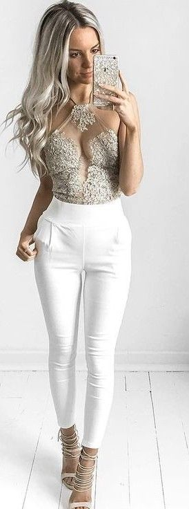 #summer #lovely #style |  White + Gold