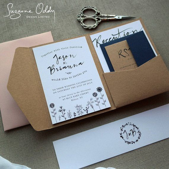 Rustic Wedding Invitation Rustic Wedding Pocket Fold Etsy Rustic Wedding Stationery Pocketfold Wedding Invitations Rustic Wedding Invitations Rustic