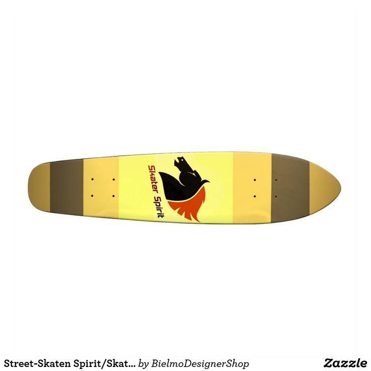 Street-Skaten Spirit/Skateboard in braun-gelbtöne