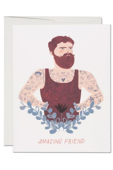 Bearded Man - Friendship Card