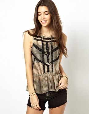 peplum top. I'm so opposed to the peplum thing. It's generally hideous. This however is smoking.