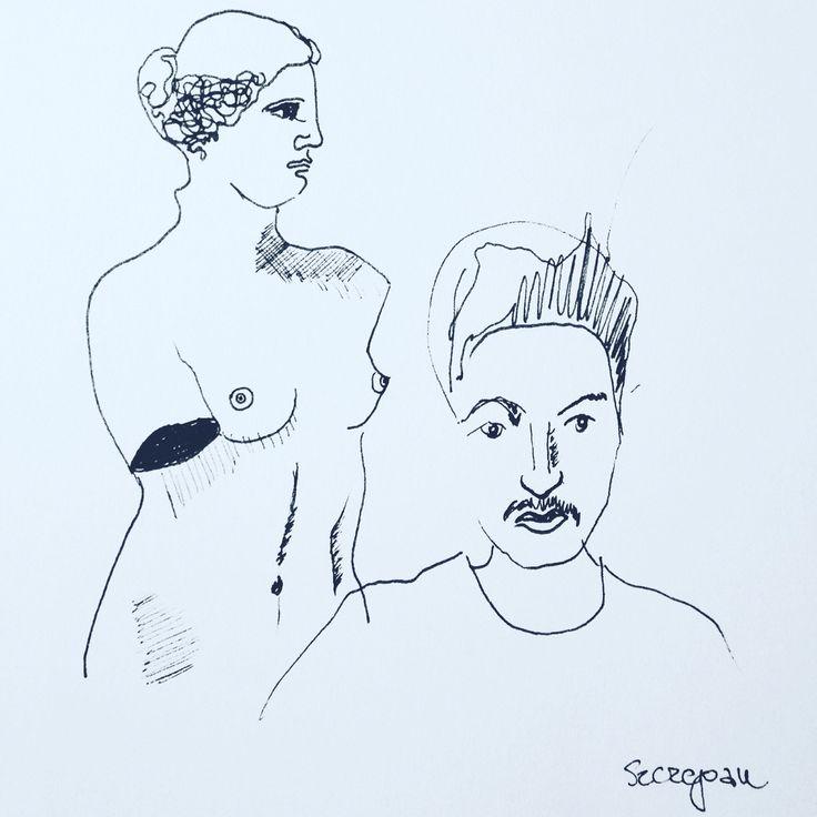 Selfshots in Milo #wenus #autoportrait #classic #sculpture #milo #selfshot  #drawing #szczepanrysuje