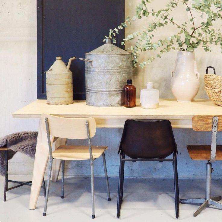 17 beste afbeeldingen over interior eetkamer op pinterest industrieel eames en lampen - Deco eetkamer oud ...