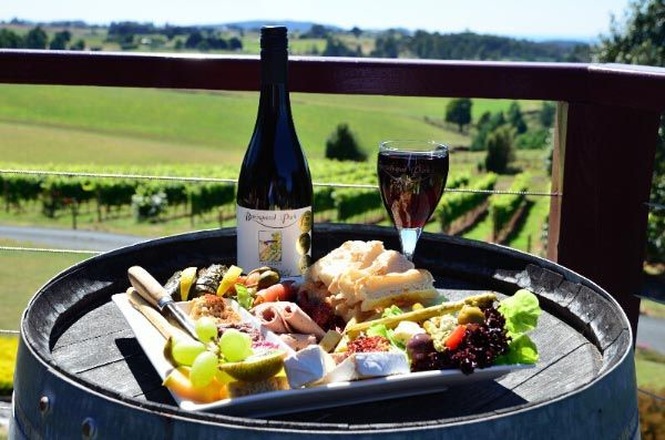 So many wineries to choose from.  Cellar door cafes often selling platters to accompany a wine or two!  Photo by Dan Fellow.