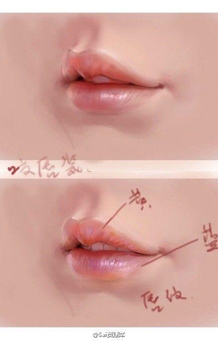 # Pittura riferimento abilità pittura # realismo bocca per spiegare, sexy ...