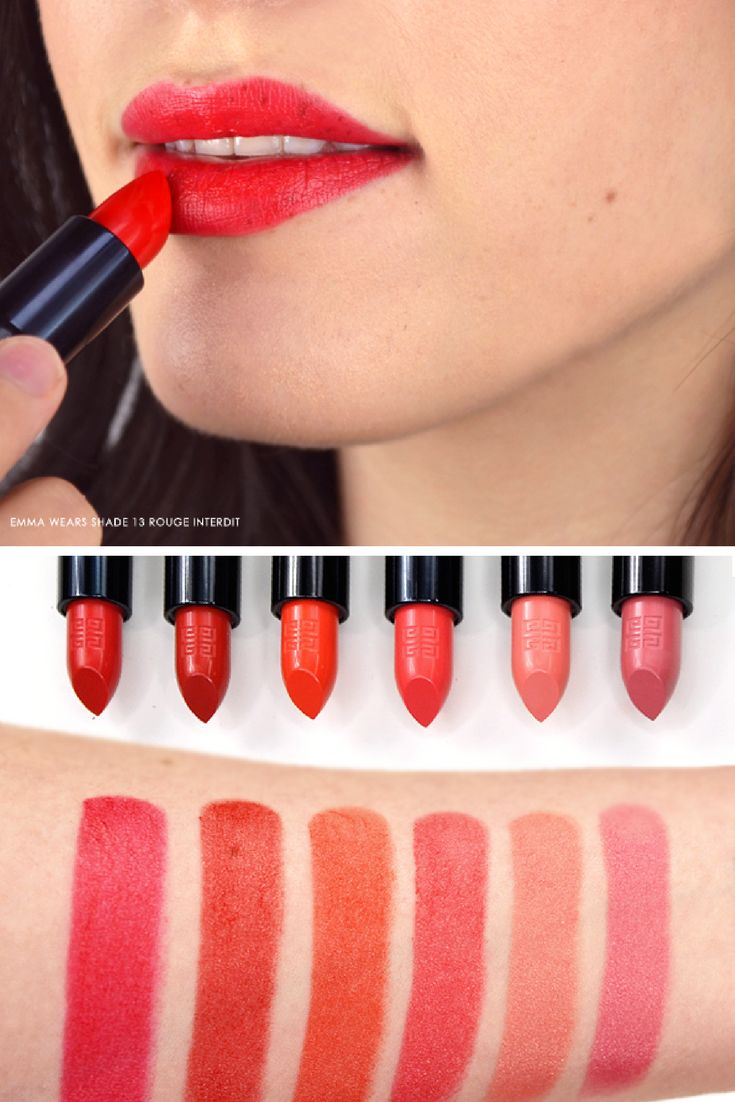 359 best images about swatch central on pinterest for Givenchy rouge miroir lipstick