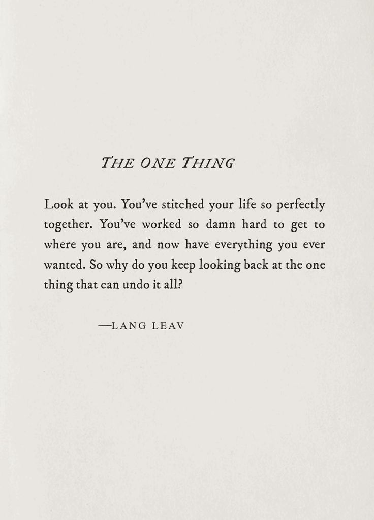 The One Thing~Lang Leav