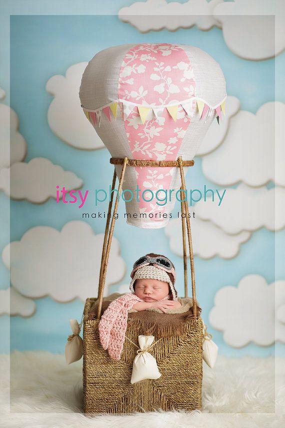 Newborn Aviator Hat, 3 Piece Set, Aviator, Goggles, Scarf, Brown, Pink, Gray, Baby, Girl, Newborn Photo Prop, Ready to Ship