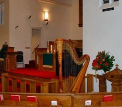 Wedding ceremony at First United Methodist Church, Hobart, Indiana  http://www.theclassicharpist.com