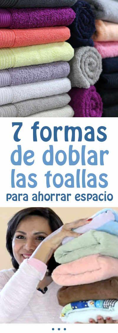 7 formas de doblar las toallas para ahorrar espacio